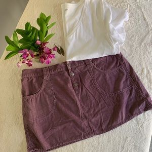 Lightweight corduroy mini skirt
